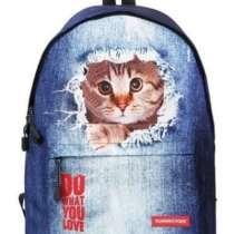 Рюкзак городской джинс кот, в г.Запорожье
