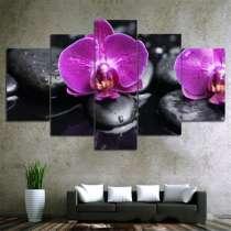 """Модульная картина """"Орхидея"""" - печать на холсте, в г.Бишкек"""