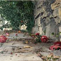 Картина Гранаты, холст, масло, 50х75 см, в г.Киев