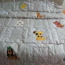 Одеяло детское стеганое с вышивкой, в Санкт-Петербурге