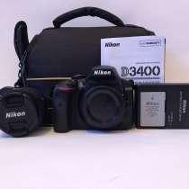Nikon D3400 + oбьектив, в Иркутске
