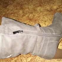 Ботинки серые, высокий каблук, в г.Никополь