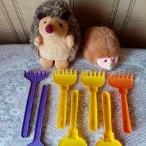 Игрушки мягкие Ежи и грабельки, в Новосибирске