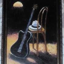 Картина Гитара (живопись масло, мастихин), в Москве