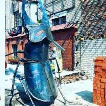 Жук олень из металла, в Москве