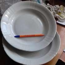 Тарелка глубокая 27 см, толстостенная, светло бежевая,210 шт, в Таганроге