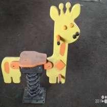 Жираф. Качели на пружине для детской площадки, в Таганроге