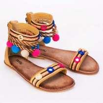 Женские сандалии, жёлтые, в Тюмени