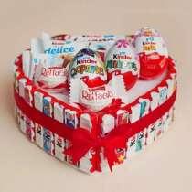 Букеты из конфет, тортики из киндеров. На любые мероприятия, в Ростове-на-Дону