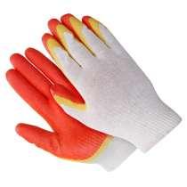 Перчатки рабочие с 2-ым латексным покрытием, в Краснодаре