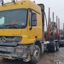 Сортиментовоз MB Actros 3350, 6х4, 2013 г. в. с ГМП и прицеп, в Ханты-Мансийске