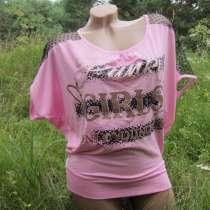 Розовая женская футболка с надписями, в г.Днепродзержинск