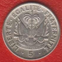 Гаити 5 сантимов 1958 г. Филадельфия, в Орле