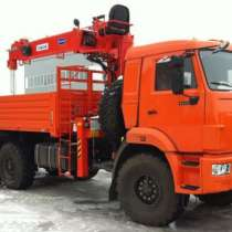 КМУ 7т. Канглим KS1256 G2 на шасси КамАЗ-43118, в Москве