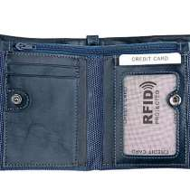 Кожаное портмоне от воровства с банковских карт RFID/Кошелек, в г.Астана