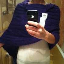Пончо кофта Италия М 46 мохер сиреневое фиолетовое вязаное 3, в Москве