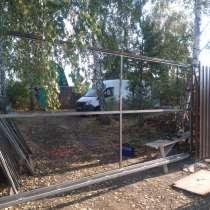Строительство заборов любой сложности с профлистом, ворот, в Красноярске