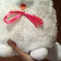 Мягкая игрушка белый кот. Размер 21 на 16, в Воронеже