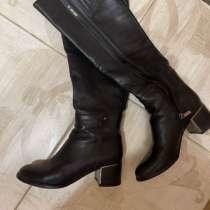 Кожаные сапоги до колен Италия, в Ишимбае
