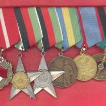 Афганистан колодка 6 наград Красное Знамя Звезда Верность др, в Орле