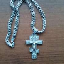 Мужская серебряная цепь с крестом, в Иванове