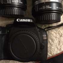 Зеркальный фотоаппарат Canon EOS 550d + 2 объектива, в Санкт-Петербурге