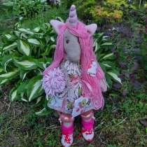 Единорожка-куколка. Текстильная, в Гатчине