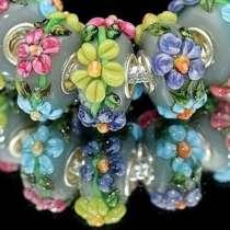 Шарм на браслет (стиль Pandora) Цветы, в Перми