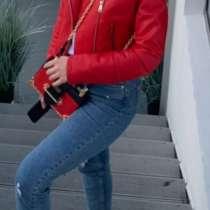 Красная куртка из эко коже! Reserved размер 42! 700 гр, в г.Одесса
