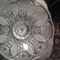 Разборная ваза (большой салатник + ваза для цветов) хрусталь, в Саратове
