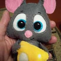 Подарок-сувенир - новогодняя мышка с сыром, в Екатеринбурге