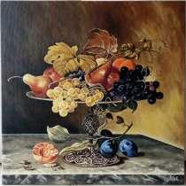 "Картина ""Натюрморт с фруктами"" (холст. масло, 40х40 см), в г.Киев"