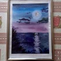 """Картина ручной работы """"Лунная ночь"""", в Москве"""