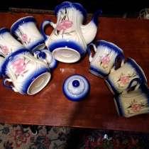Красивый сервиз. Чайник, сахарница и 6 чащек, в г.Мариуполь