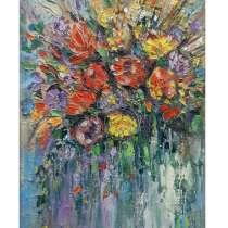 Картина маслом Букет цветов, в Москве