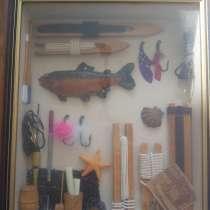 Коллаж в деревянной раме за стеклом, в Видном