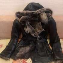 Дубленка натуральный мех и кожа, в Москве