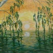 Картина Рассвет. Берёза и вода, в Тюмени