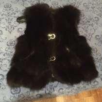 Продам жилетку шубу писец чёрного цвета, одевалась 2 раза, в Владикавказе