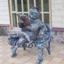"""Скульптура""""Кот ученый"""", в Краснодаре"""