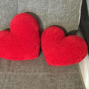 Валентинка, плюшевое сердце, подушка, в Москве