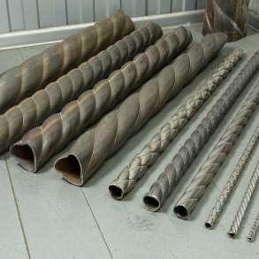 Изготовление «витой трубы» с гранями крученой формы на заказ, в Ульяновске