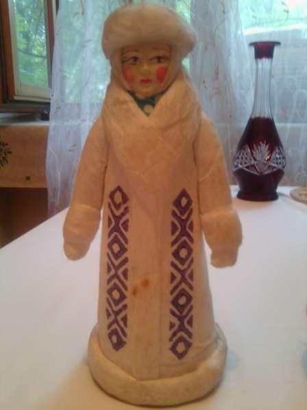 Ёлочная игрушка Снегурочка из ваты СССР 50-е