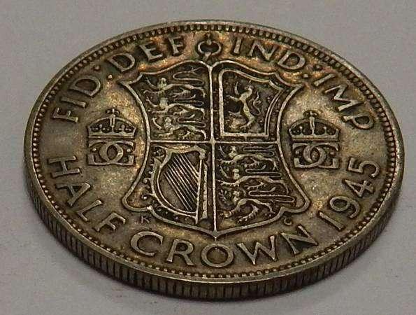 1/2 кроны, 1945 г. Великобритания. Серебро