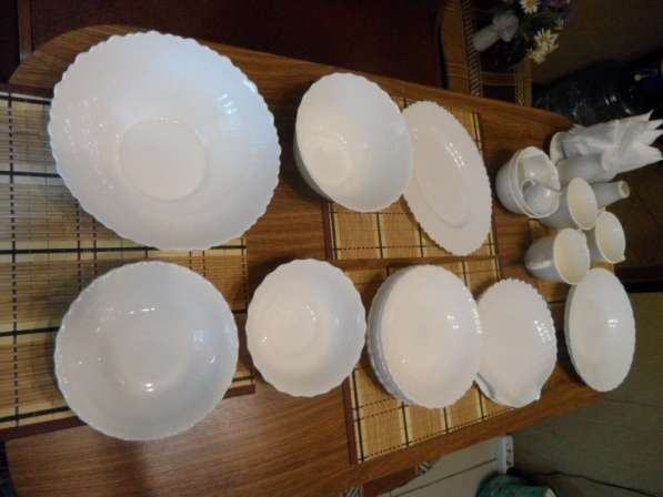Замечательные посуда из белого фарфора+ стеклянная в Санкт-Петербурге фото 8