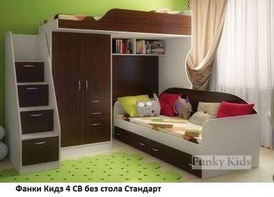 Кровать чердак ФК- 4/1 СВ без стола