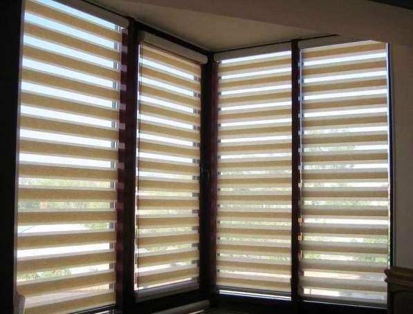 Рулонные шторы день-ночь, ткань Зебра