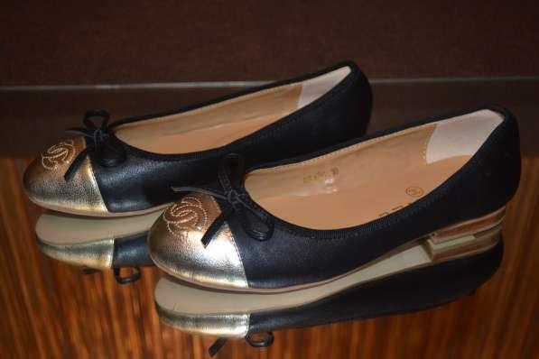 Балетки Chanel, цвет: черный