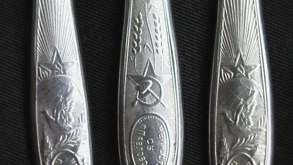 Вилки и ножи СССР звезда серп и молот