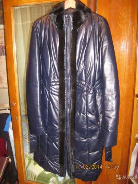 Кожаное пуховое пальто, Италия